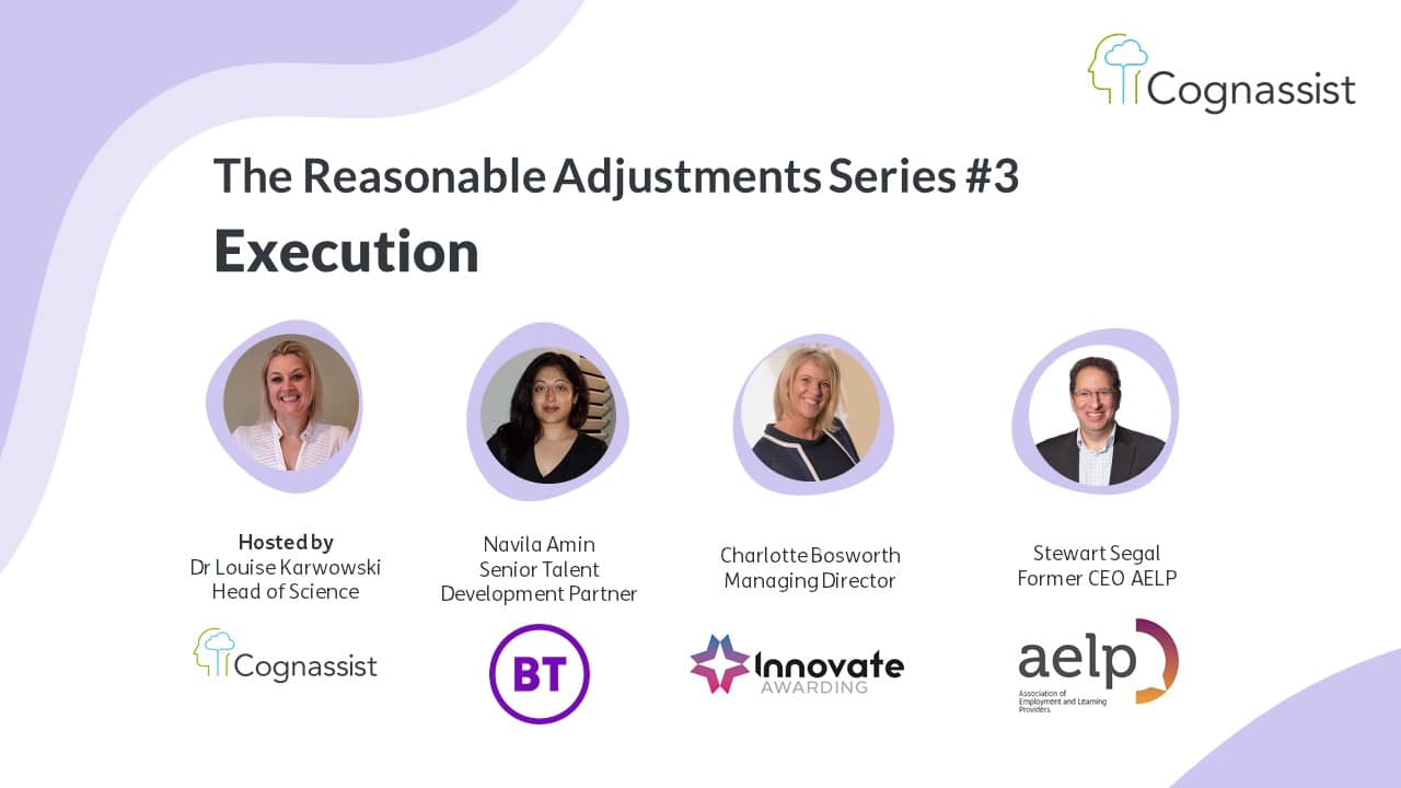 How to make reasonable adjustments webinar event