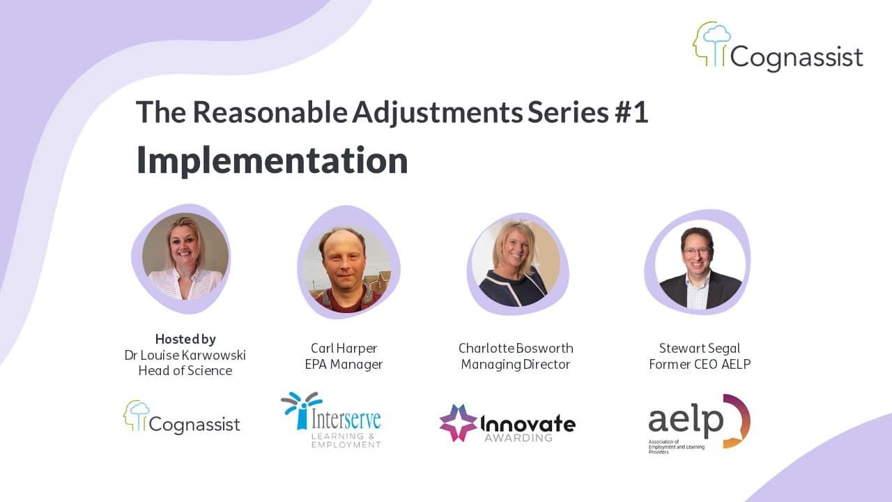 Implementing reasonable adjustments