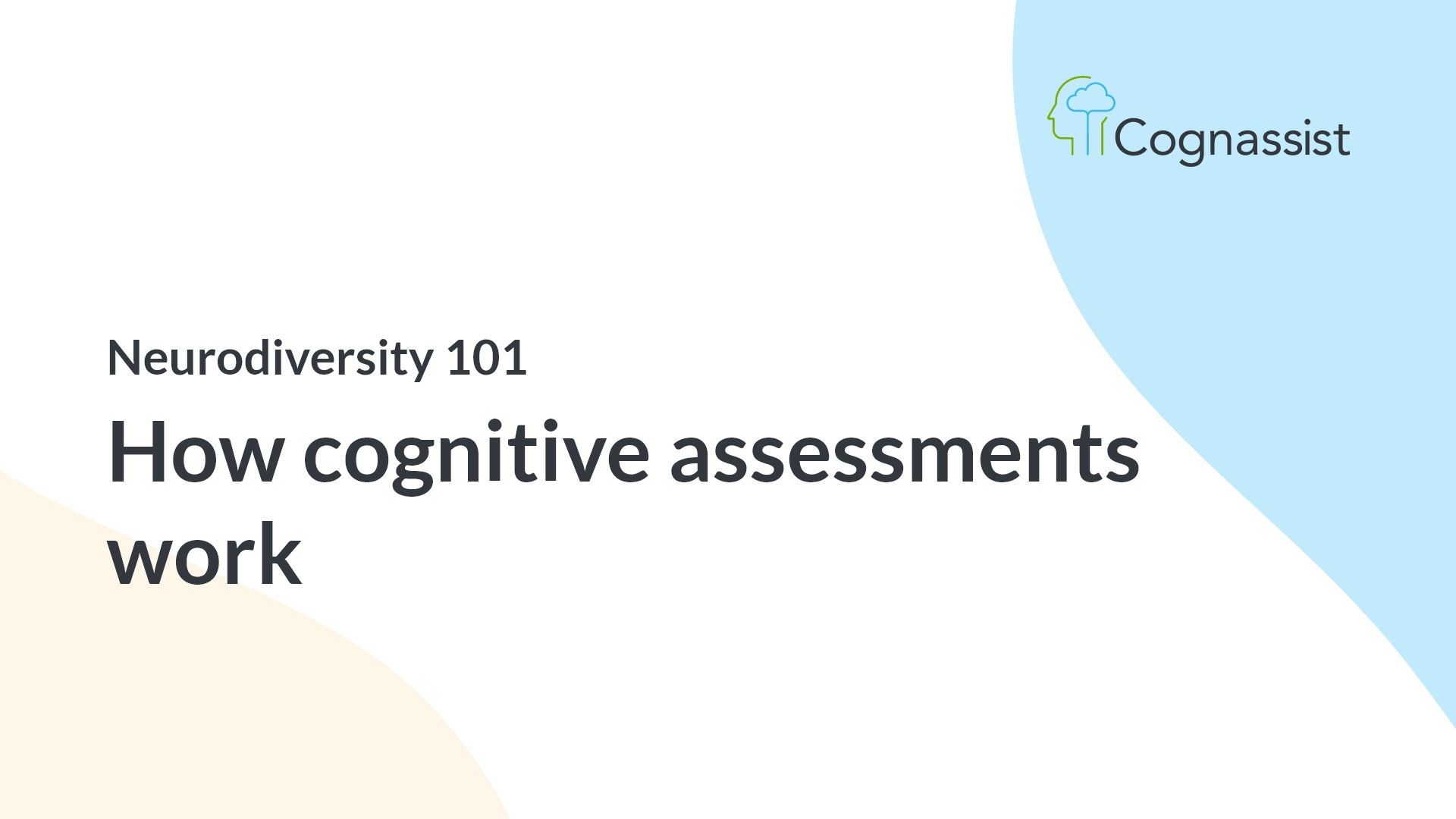 how cognitive assessments work