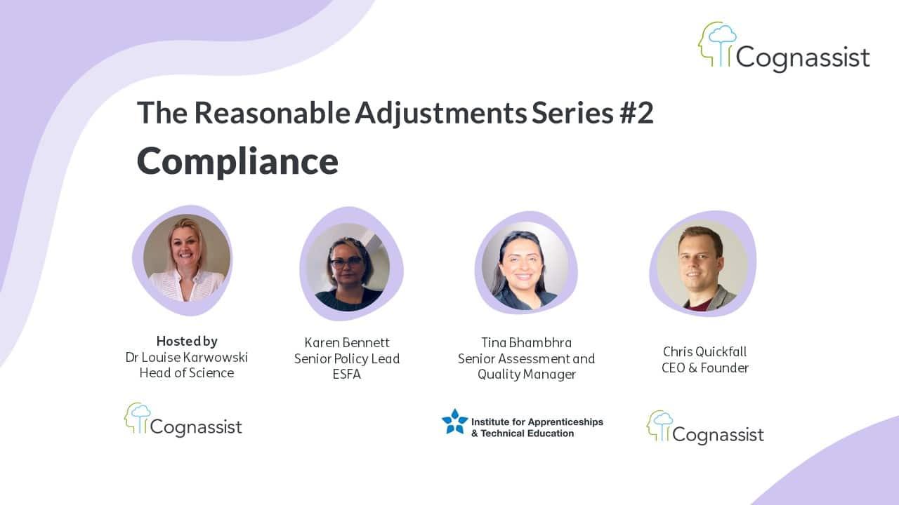 Reasonable Adjustments series - Compliance panel