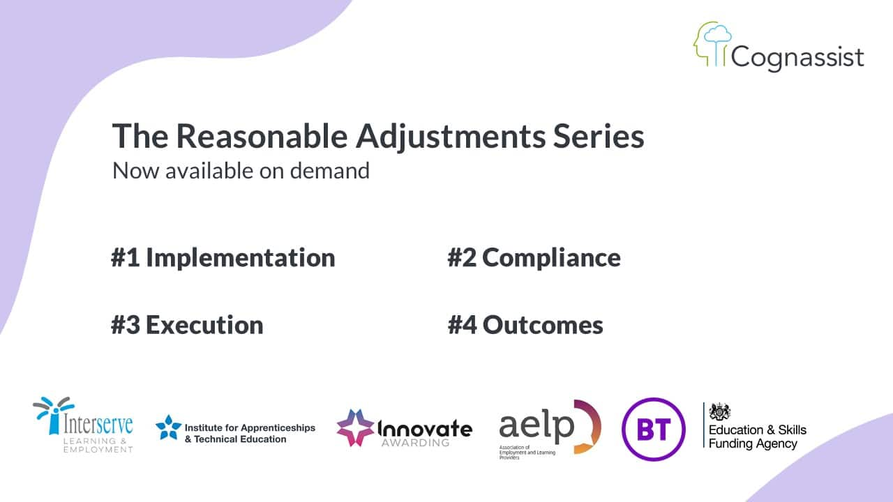 the reasonable adjustments webinar series