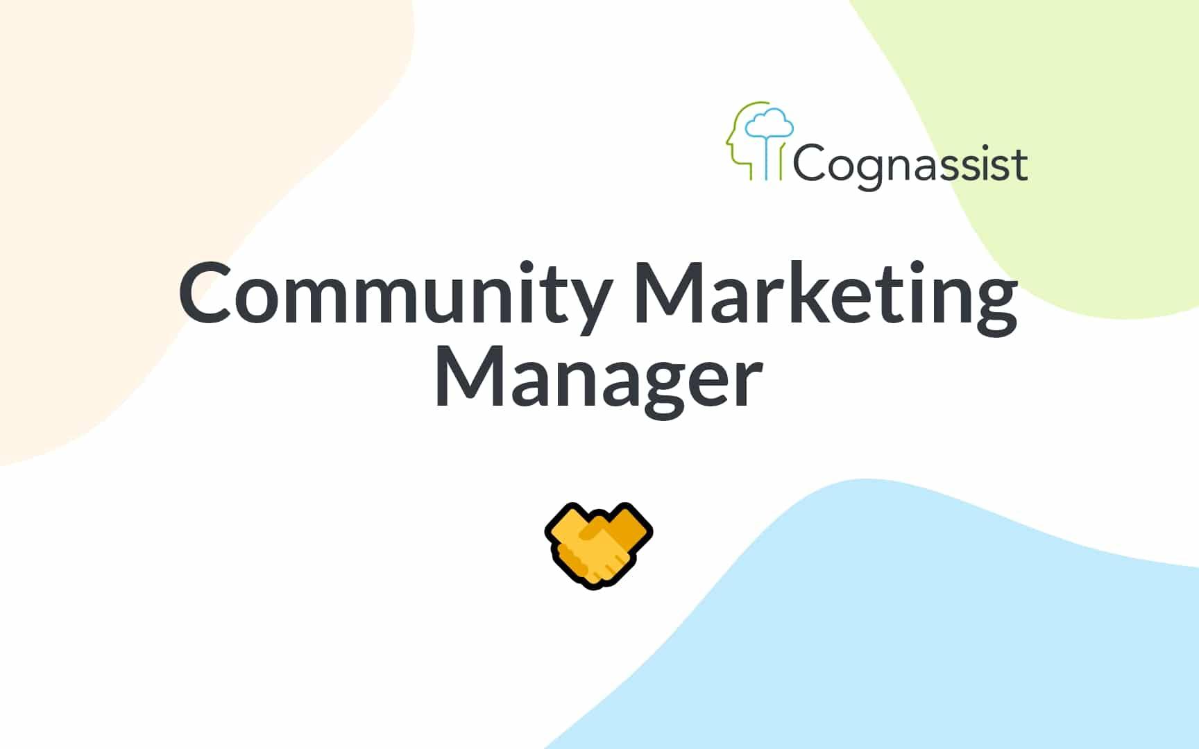 Image: Community Marketing Manager role