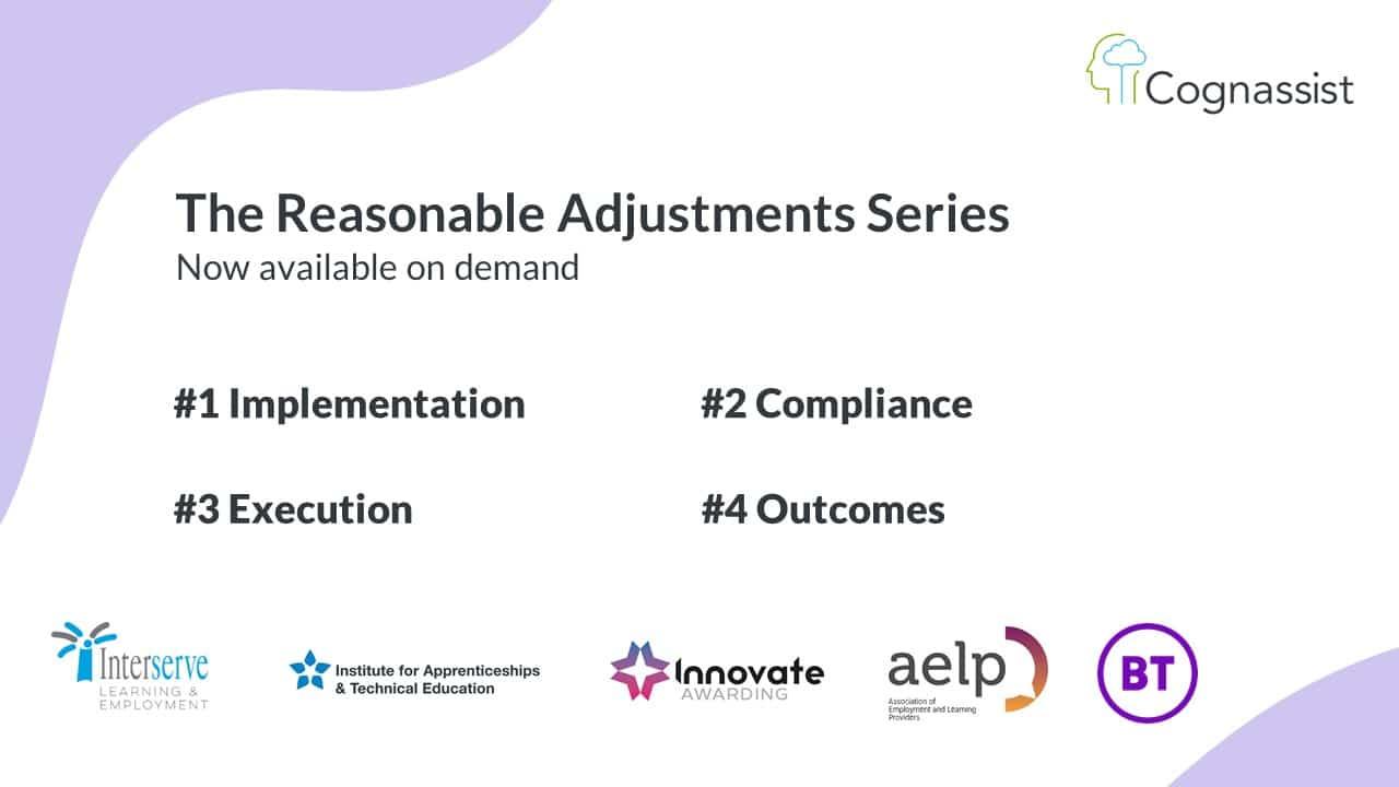 Reasonable Adjustments Panel Series